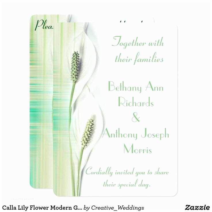 Calla Lily Wedding Invitations 18 Best Calla Lily Wedding Invitations Images On Pinterest