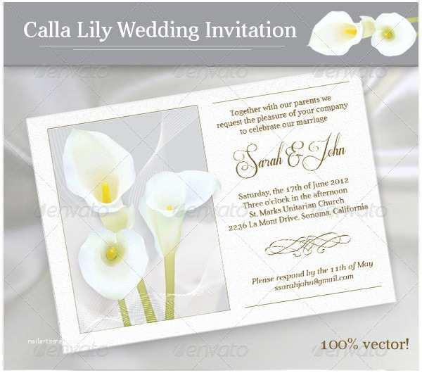 Calla Lily Wedding Invitations 52 Invitation