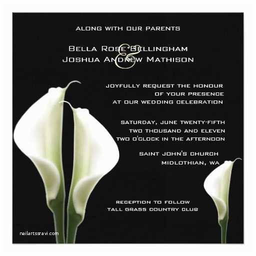 Calla Lily Wedding Invitations Calla Lilies Wedding Invitation