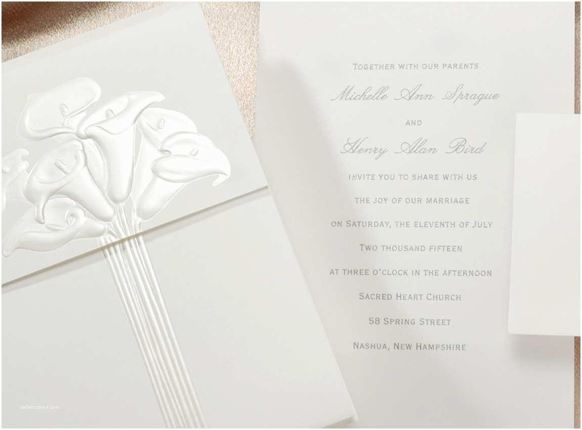 Calla Lily Wedding Invitations Calla Lily Bouquet Wedding Invitation
