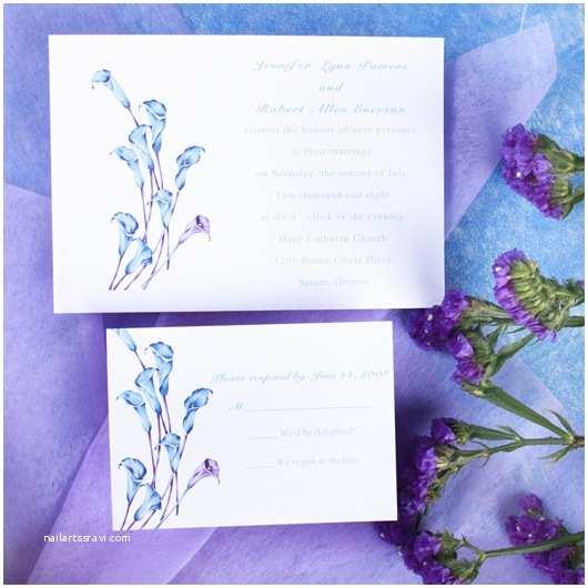 Calla Lily Wedding Invitations Elegant Purple Calla Lily Wedding Invitations with