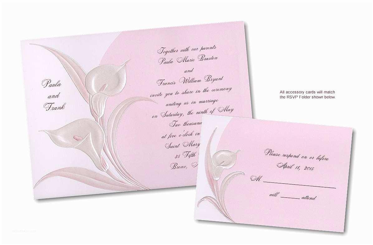 Calla Lily Wedding Invitations Invitations 4 Less