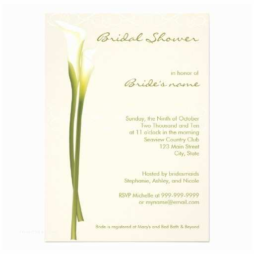 Calla Lily Wedding Invitations Personalized Lily Flowers Invitations