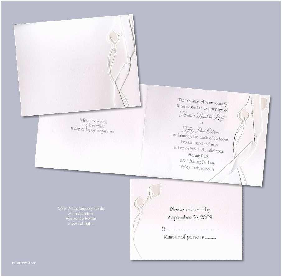 Calla Lily Wedding Invitations Petite Calla Lily Wedding Invitation