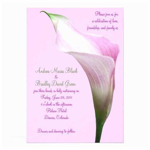 Calla Lily Wedding S Pink Calla Lily Wedding