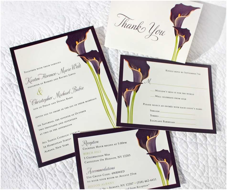 Calla Lily Wedding Invitations Thank You Cards Archives Emdotzee Designs