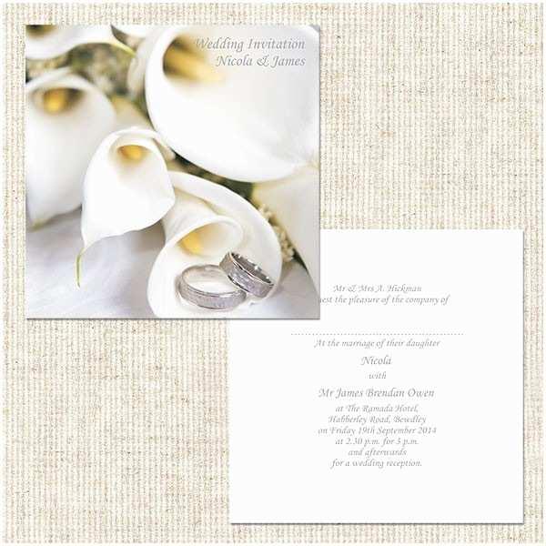 Calla Lily Wedding Invitations Wedding Invitation Wedding Calla Lilies Day Invitation