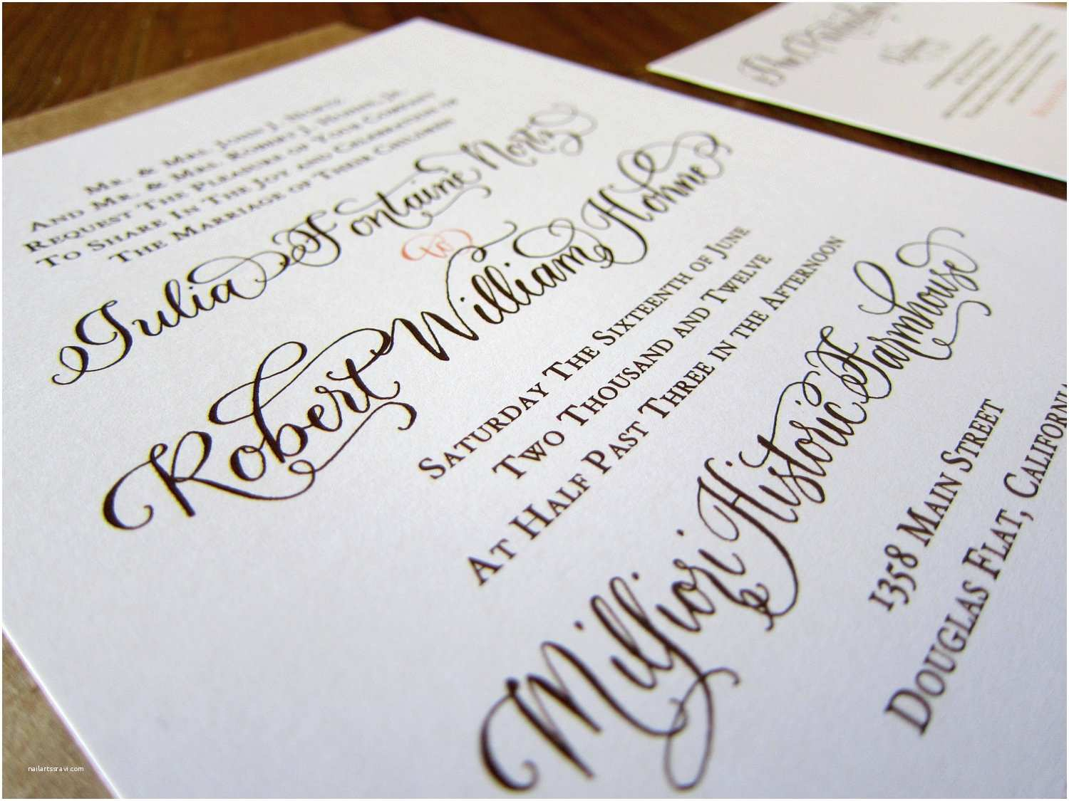 Calligraphy for Wedding Invitations Best Album Calligraphy Wedding Invitations