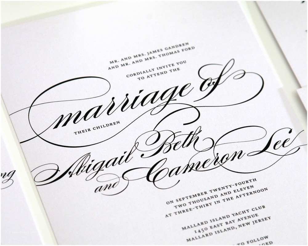 Calligraphy for Wedding Invitations Calligraphy Wedding Invitations – Marriage Sample