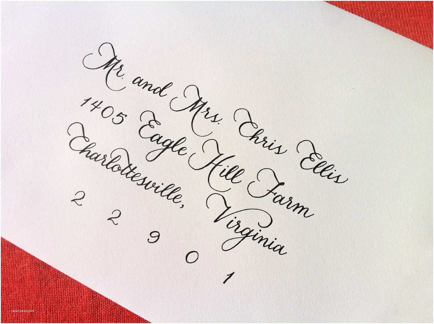 Calligraphy for Wedding Invitations Custom Wedding Invitation Calligraphy Megan