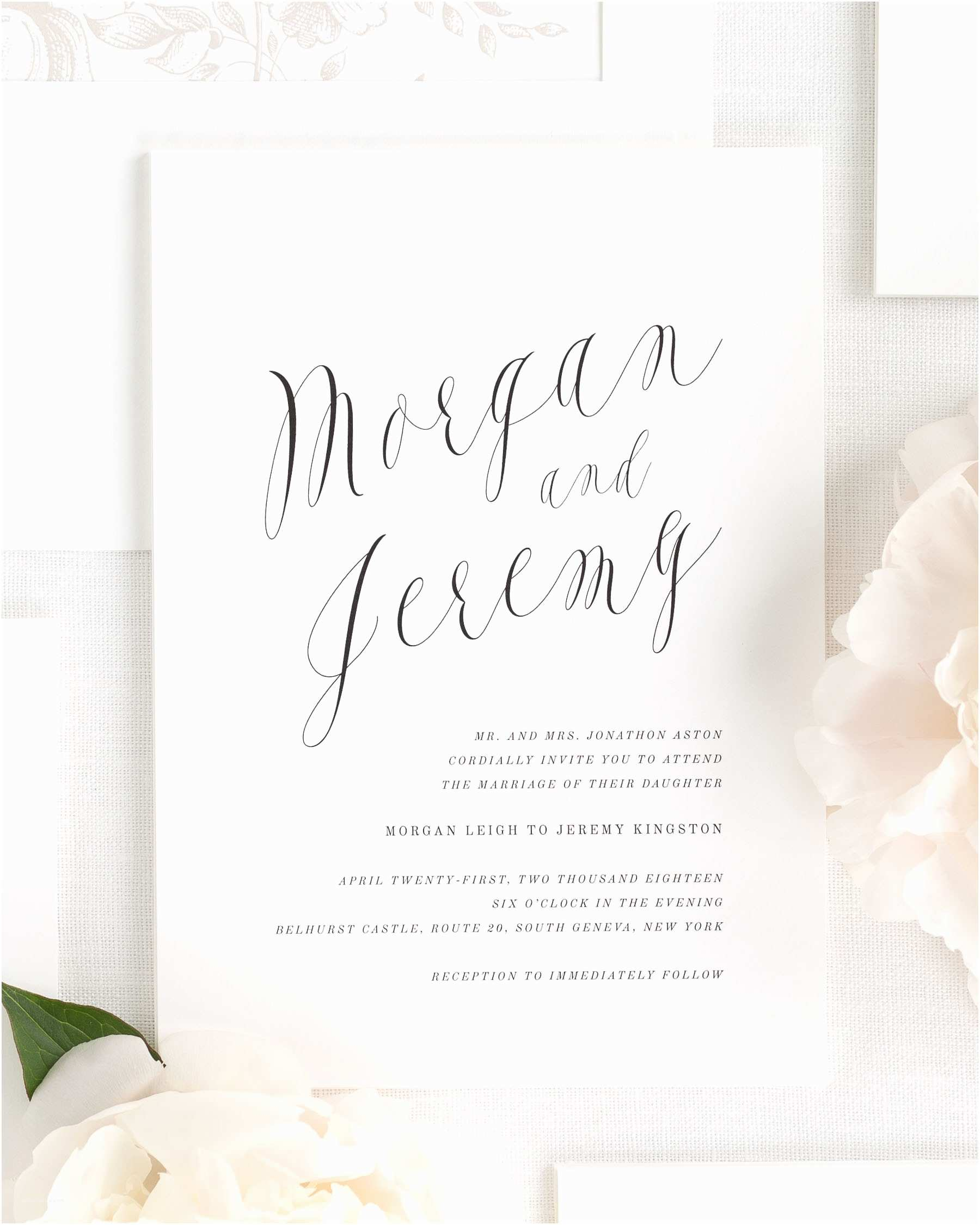 Calligraphy for Wedding Invitations Ethereal Calligraphy Wedding Invitations Wedding