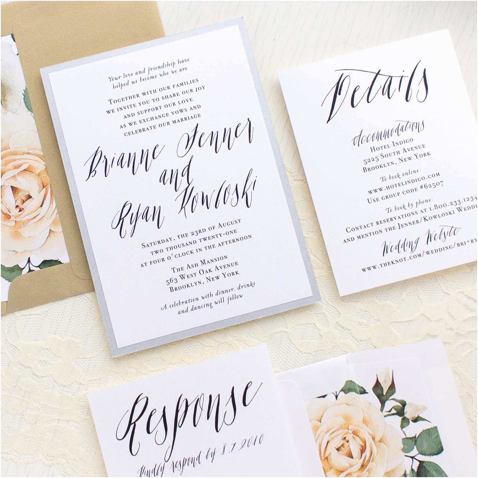 Calligraphy for Wedding Invitations Modern Calligraphy Customizable Wedding Invitations