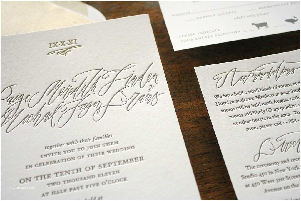 Calligraphy for Wedding Invitations Paige Michael S Elegant Calligraphy Wedding Invitations