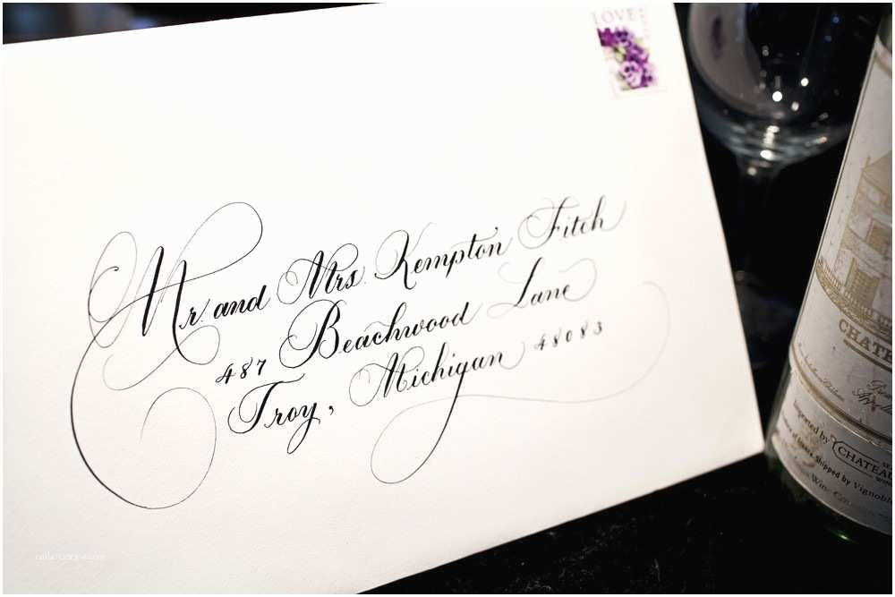 Calligraphy for Wedding Invitations Partecipazioni Matrimonio E Scrivere La Busta