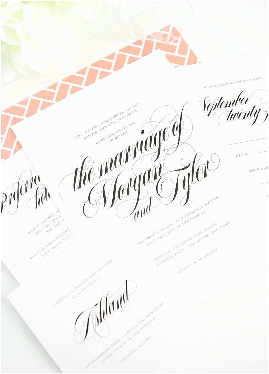Calligraphy for Wedding Invitations Wedding Invitations with Gorgeous Calligraphy – Wedding