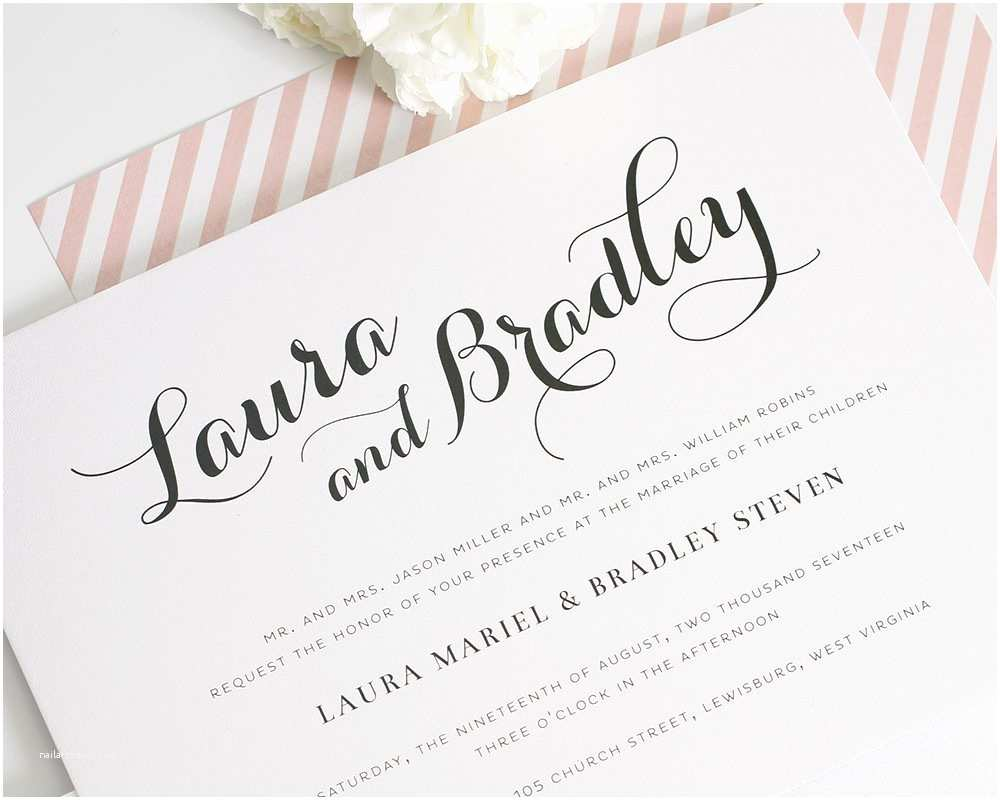 Calligraphy for Wedding Invitations Wedding Stationary Calligraphy