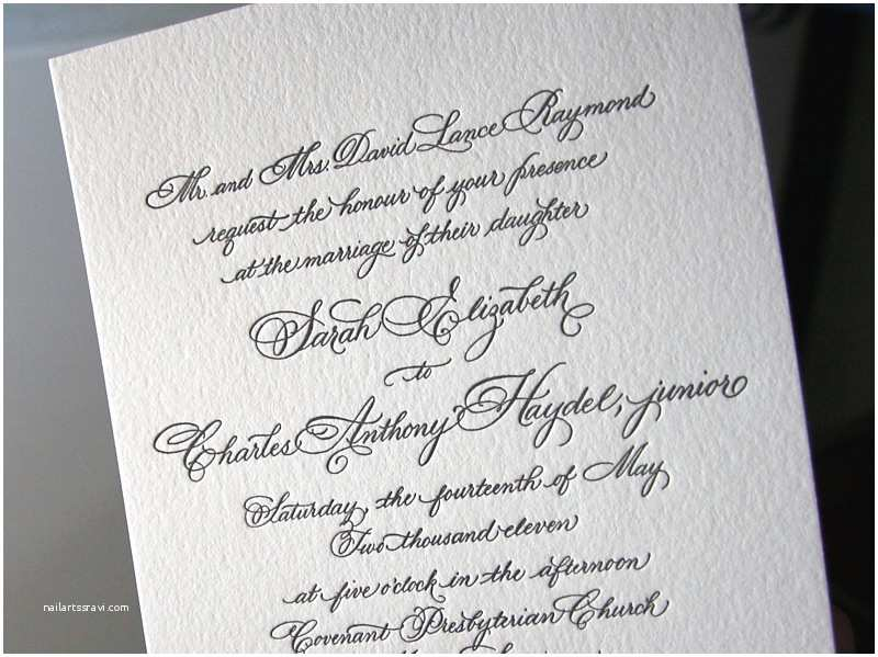 Calligraphy Pen for Wedding Invitations Classic Black White Calligraphy Wedding Invitations