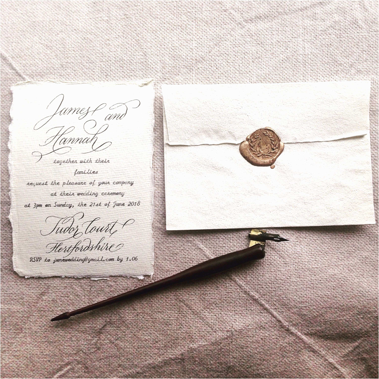 Calligraphy Pen for Wedding Invitations Custom Calligraphy On Handmade Cotton Paper for Wedding