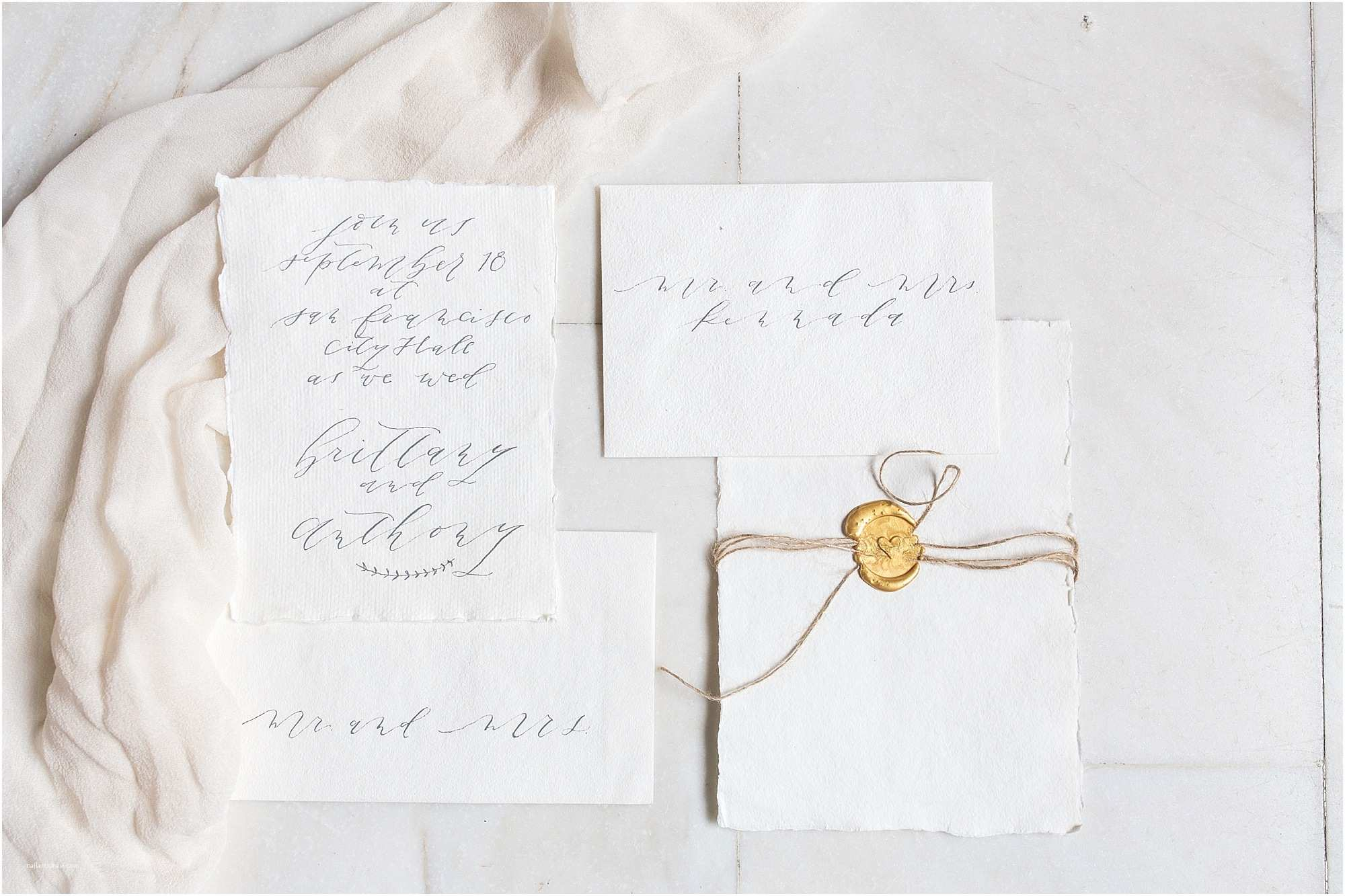 Calligraphy Pen for Wedding Invitations Modern and soft Wedding Invitation Suite On Handmade Paper