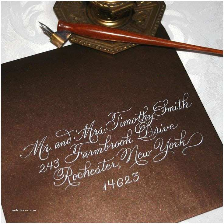 Calligraphy Pen for Wedding Invitations Script Calligraphy Envelope Addressing for Weddings
