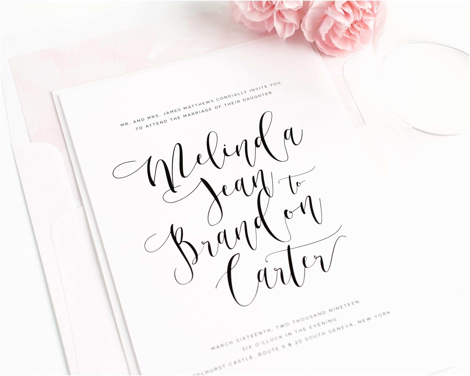 Calligraphy Wedding Invitations 2016 Wedding Invitations by Shine Wedding Invitations