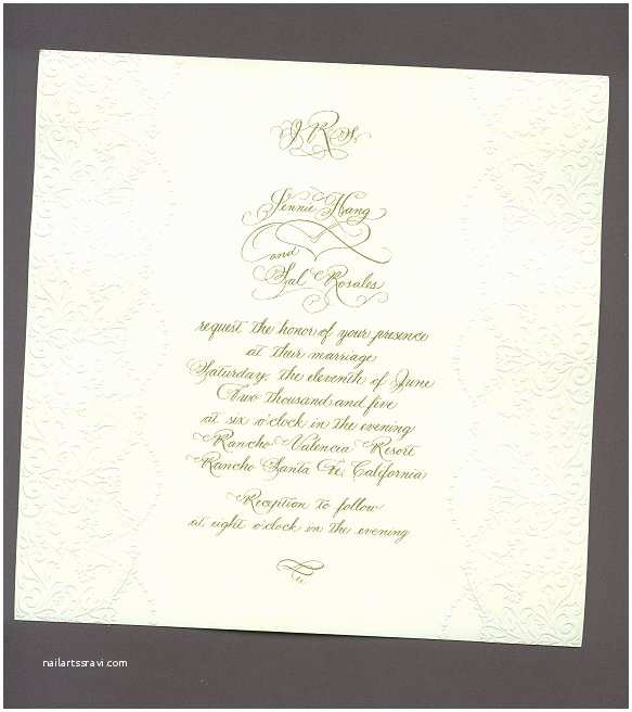 Calligraphy Wedding Invitations Calligraphy Wedding Invitation Template Online
