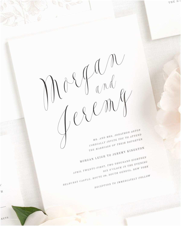 Calligraphy Wedding Invitations Ethereal Calligraphy Wedding Invitations Wedding