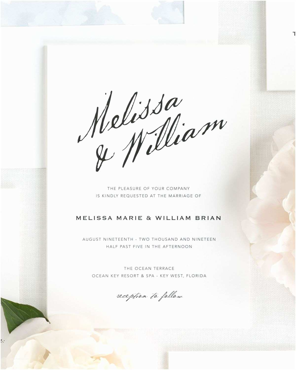 Calligraphy Wedding Invitations Modern Calligraphy Wedding Invitations Wedding