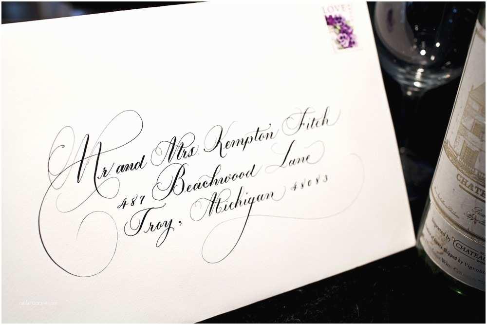 Calligraphy Wedding Invitations Partecipazioni Matrimonio E Scrivere La Busta
