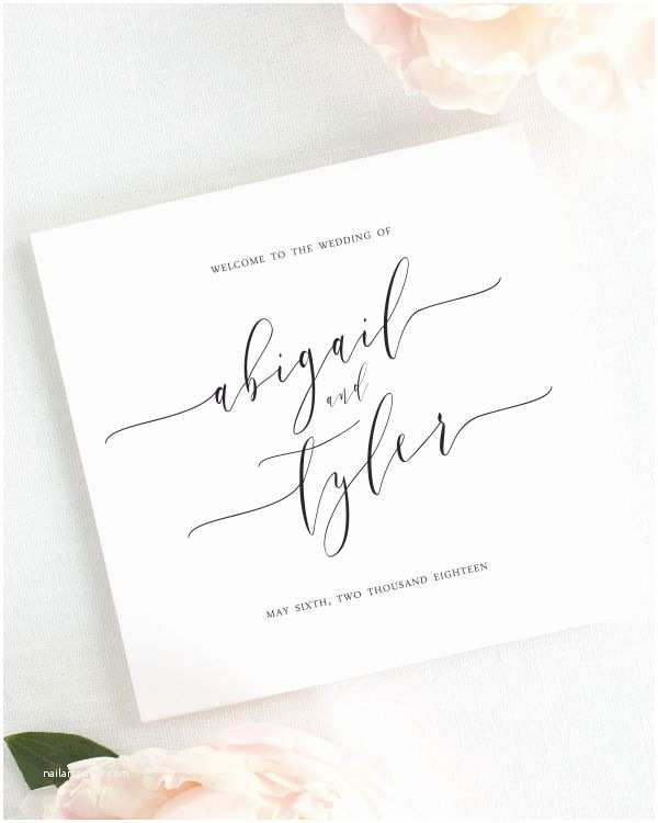 Calligraphy Wedding Invitations Romantic Calligraphy Save the Date Cards Save the Date