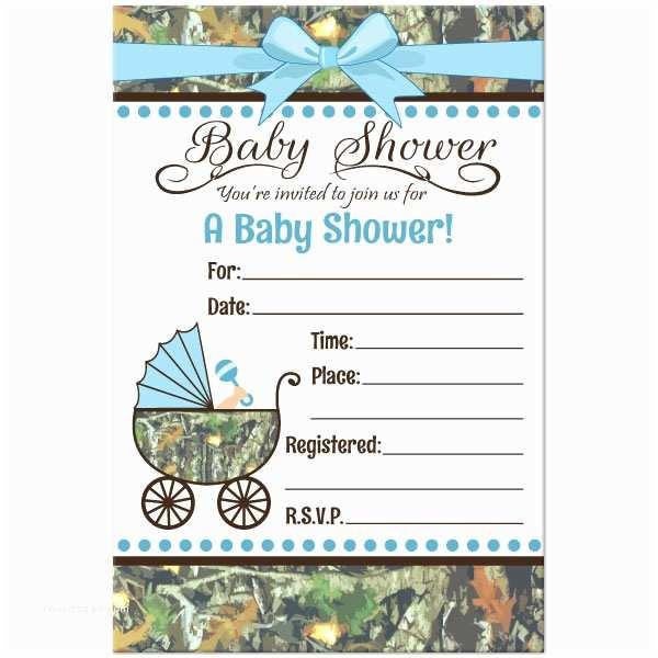 Camo Baby Shower Invitations Camo Baby Shower Invitations