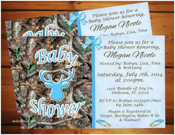 Camo Baby Shower Invitations Little Boy Blue Camo Baby Shower Invitation Printable