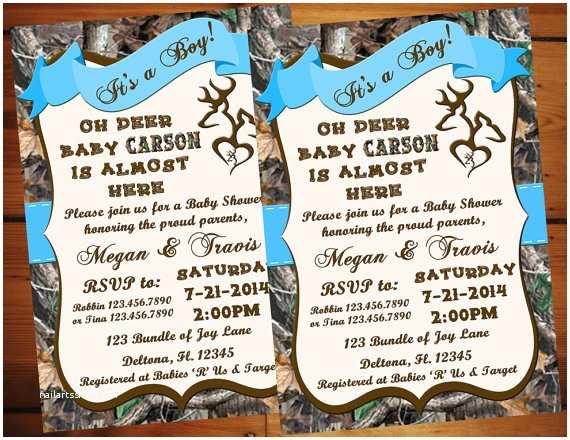 Camo Baby Shower Invitations Oh Deer Camo Baby Shower Invitation Real Tree Camo Camo