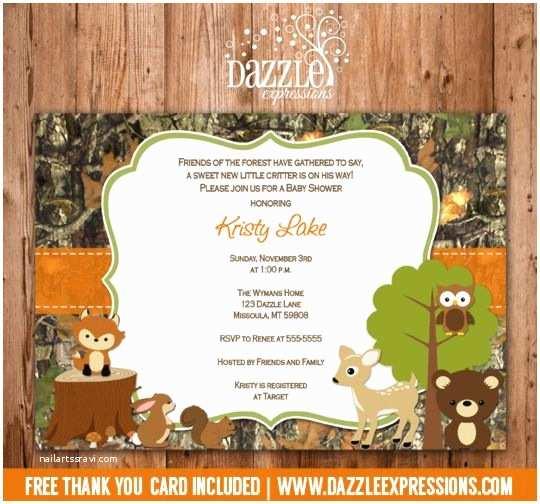 Camo Baby Shower Invitations Printable Rustic Woodland Camo Baby Shower Invitation