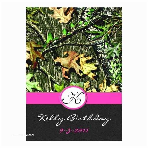 Camo Birthday Invitations Pink Hunting Camo Birthday Party Invitations