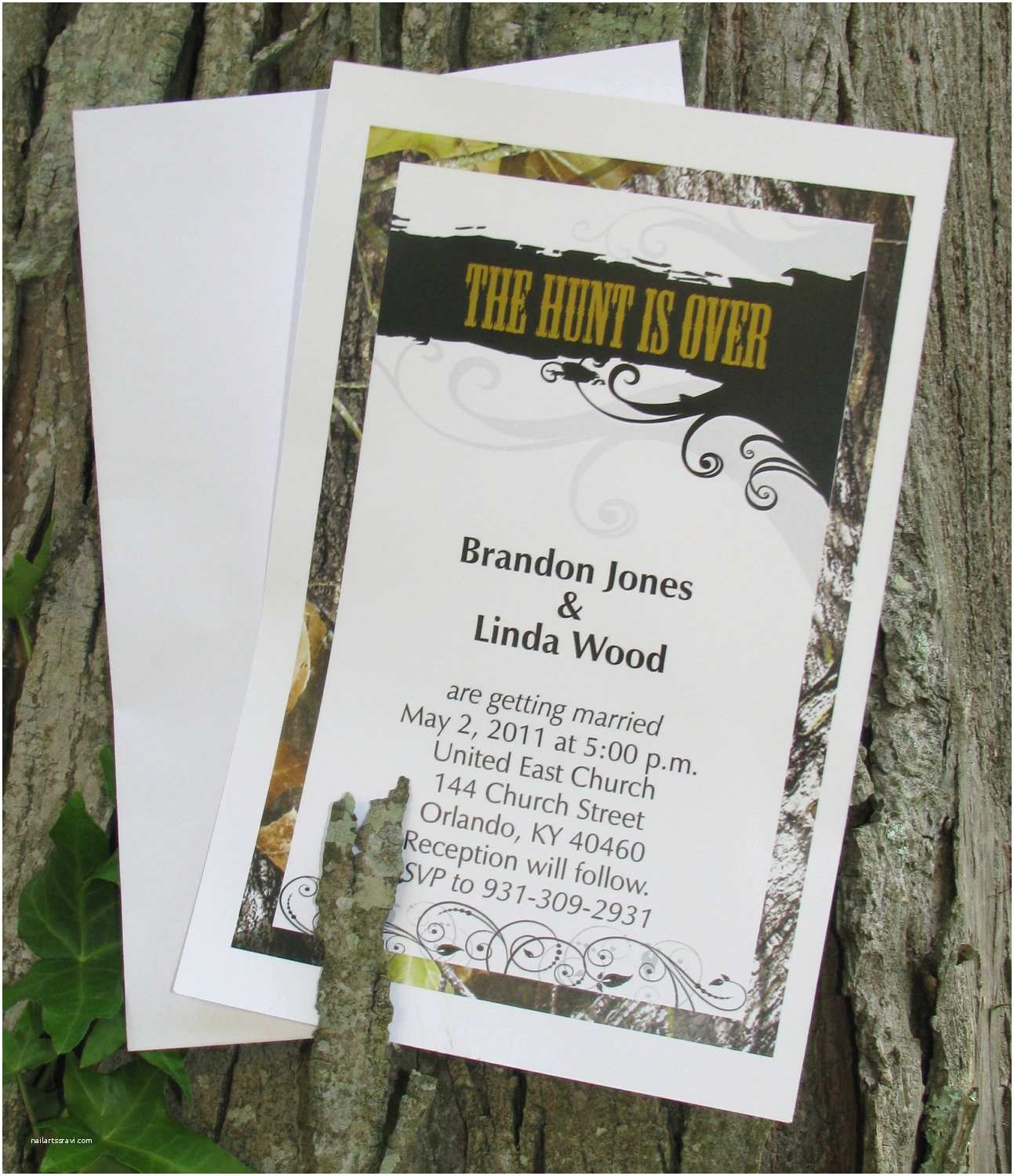 Camo Wedding Invitations 50 Mossy Camo the Hunt is Over Wedding Invitations by