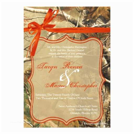 Camo Wedding Invitations 5x7 Hunters Camoflouge Camo Wedding Invitation
