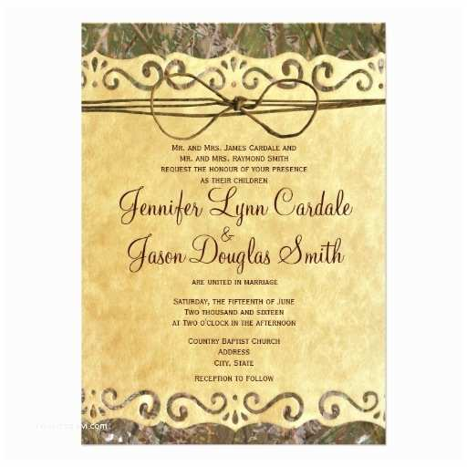 "Camo Wedding Invitations Camo Hunting Vintage Paper Wedding Invitation 4 5"" X 6 25"