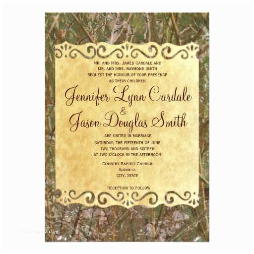 Camo Wedding Invitations Camo Hunting Vintage Paper Wedding Invitation