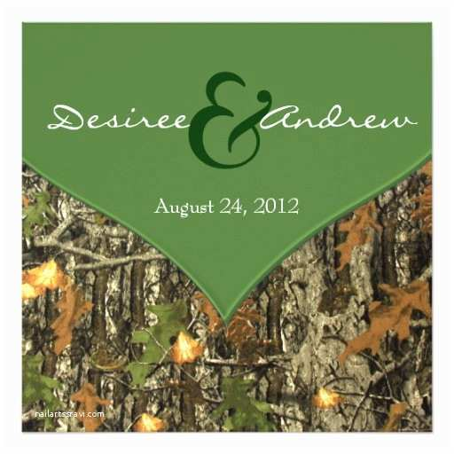 Camo Wedding Invitations Camo Wedding Invitations