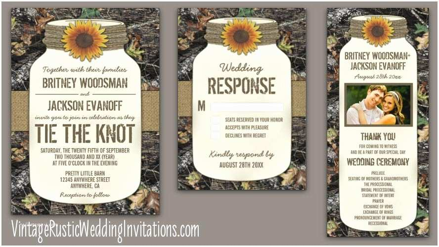 Camo Wedding Invitations Cheap Camo Wedding Invitations Vintage Rustic Wedding Invitations