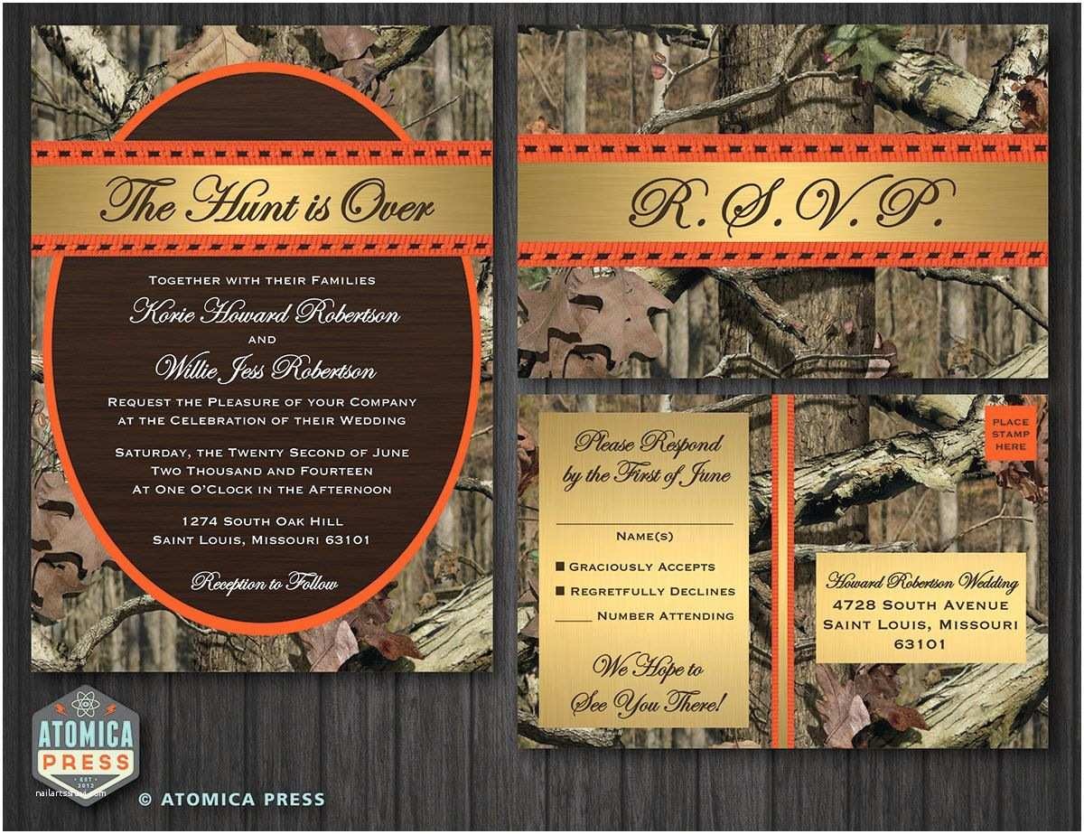 Camo Wedding Invitations Diy Printable Camo Wedding Invitation Rsvp by