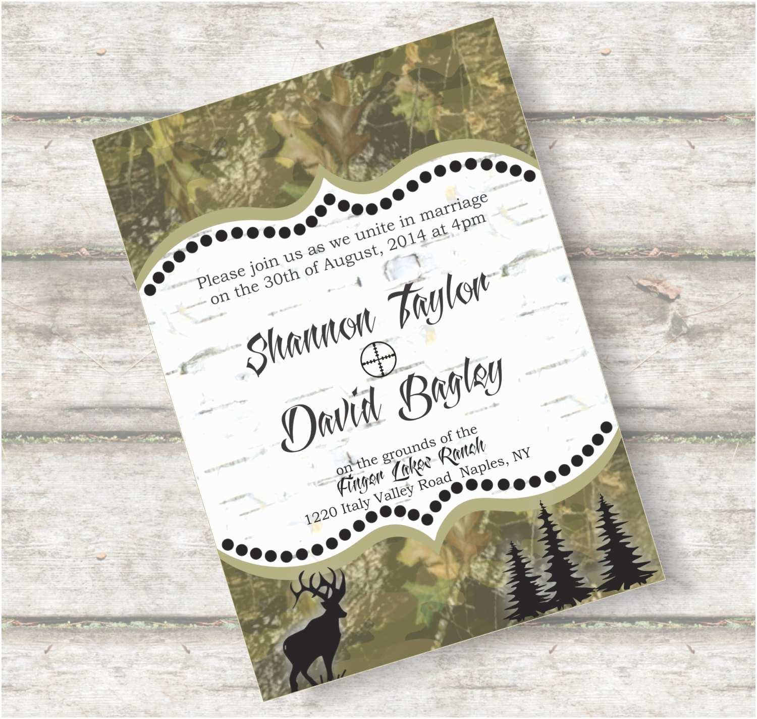Camo Wedding Invitations Free Camo Wedding Invitation Templates