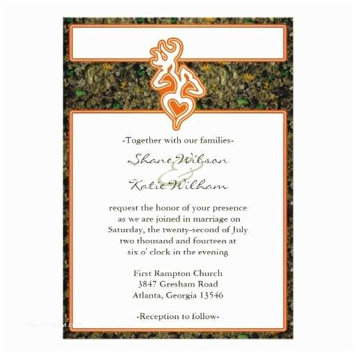 Camo Wedding Invitations Hunting Camo Wedding Invitation
