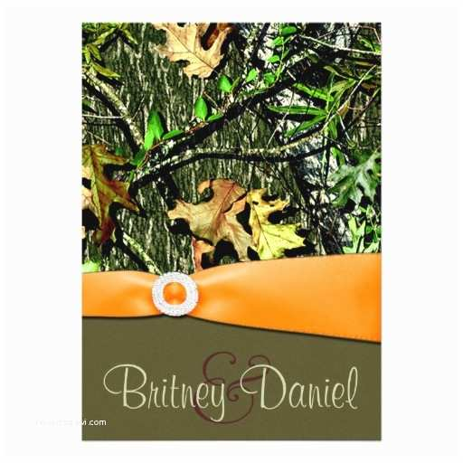 "Camo Wedding Invitations Hunting Camo Wedding Invitations 5"" X 7"" Invitation Card"
