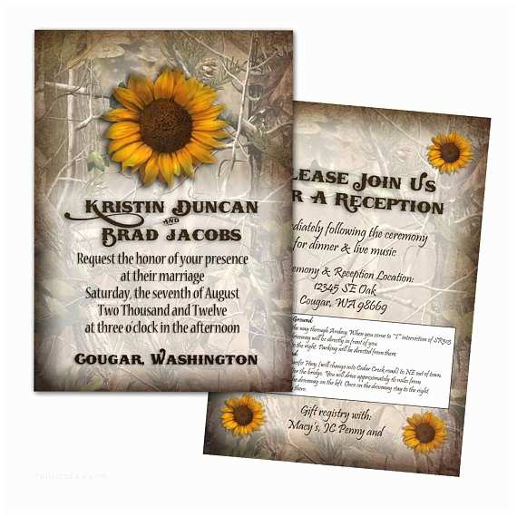 Camo Wedding Invitations Items Similar to Camo Wedding Invitation 25 Count On Etsy