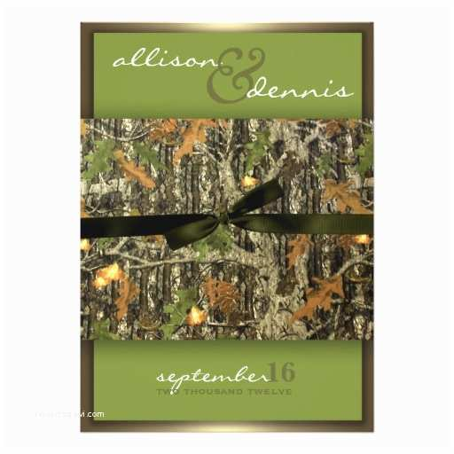 Camo Wedding Invitations Lavish Camo Wedding Invitations