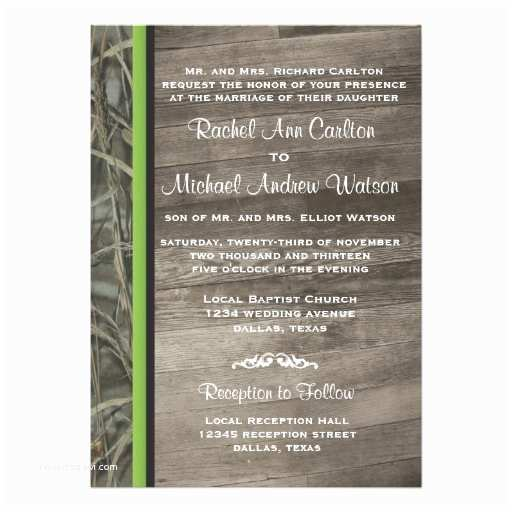 Camo Wedding Invitations Rustic Camo Wedding Invitations