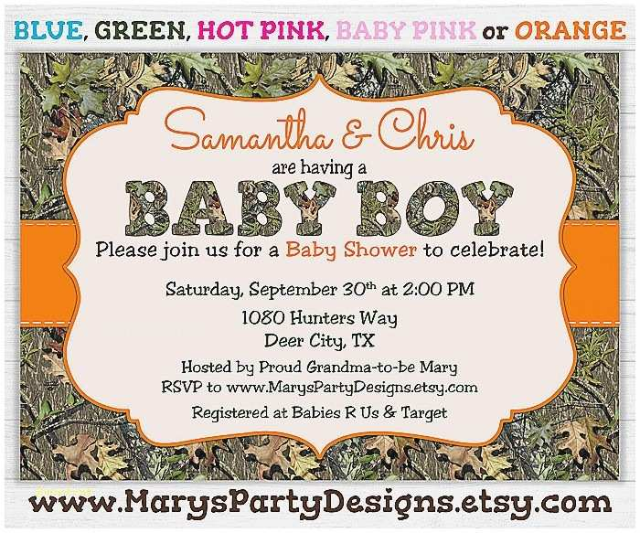 Camouflage Baby Shower Invitations Baby Shower Invitation Unique Camo Boy Baby Shower