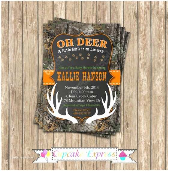 Camouflage Baby Shower Invitations Camo Baby Shower Boy Deer Hunting Printable Invitation 5x7